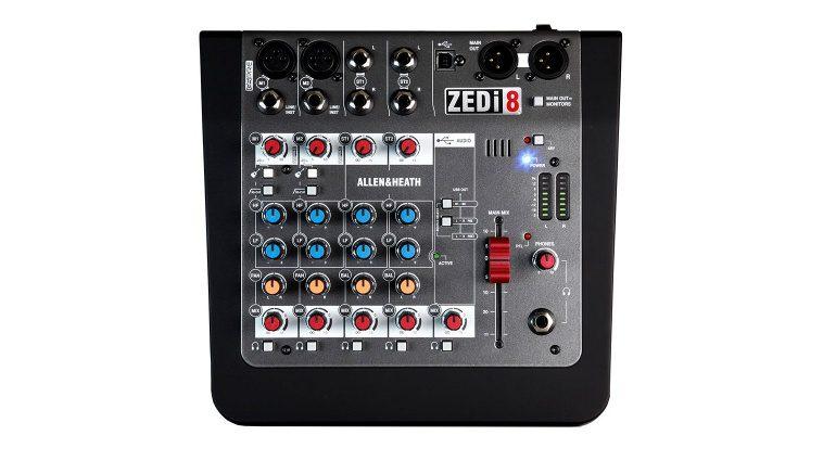 Allen & Heath ZEDi-8 Mixer Top View