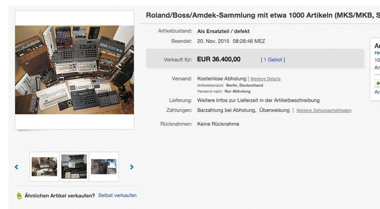 Ebay Roland Auktion DAFUQ Screenshot