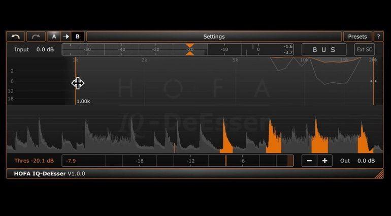 HOFA IQ DeEsser Plug-in Bus Mode