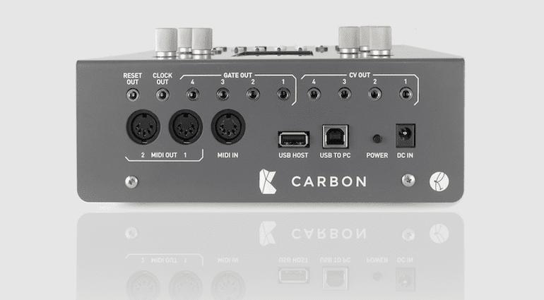 Rückansicht des Kilpatrick Audio CARBON Sequencers