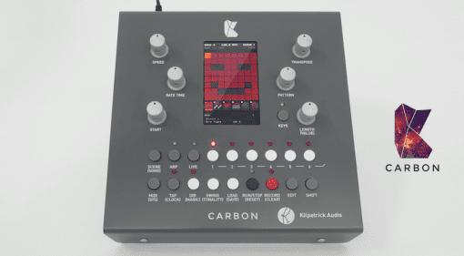 Frontansicht des Kilpatrick Audio CARBON Sequencers