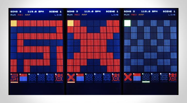 Display des Kilpatrick Audio CARBON Sequencers