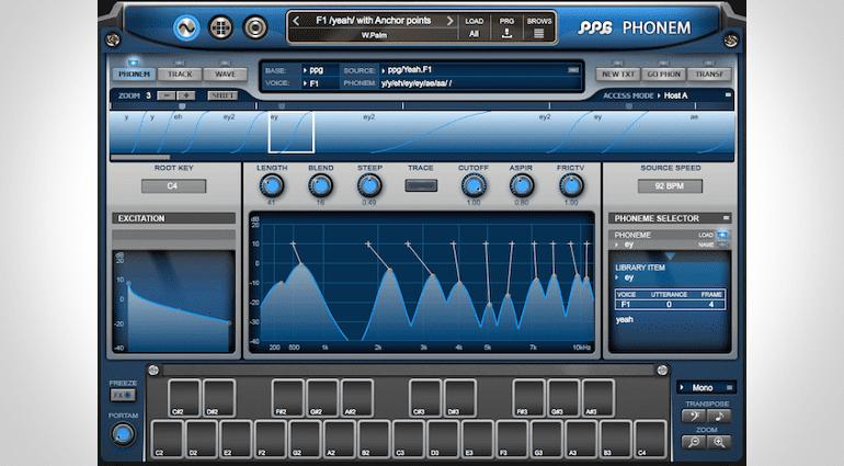 PPG Phonem Vocal-Synthesizer Mainpage