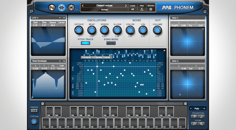 PPG Phonem Vocal-Synthesizer Modulations-Matrix Page