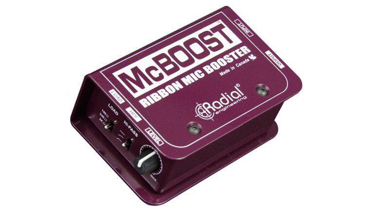 Radial Engineering McBoost Ribbon Mic Bändchen DI Box Top