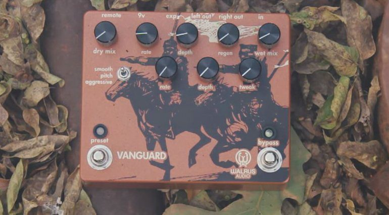 Walrus Audio Vanguard Dual Phaser Pedal Front Woods