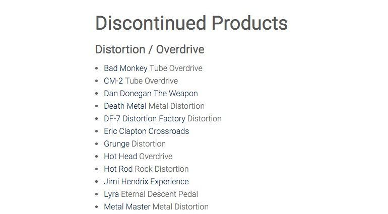 Digitech Discontinued Products
