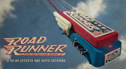 Dr. No Effects RoadRunner Octave Fuzz Wah Flying Machine Pedal Effekt