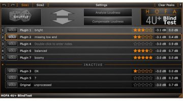 HOFA 4U BlindTest Plug-In GUI Free