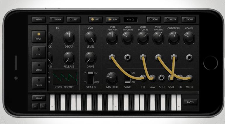 Korg - iDS10 die Synthesizer-Ansicht 1