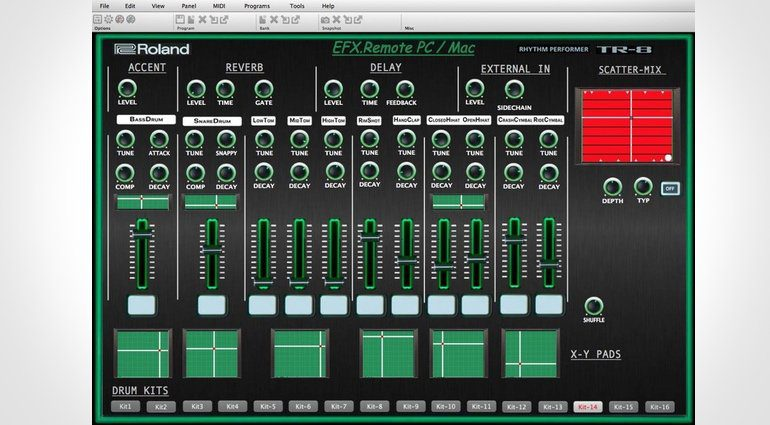 Roland AIRA TR-8 Remote VST Plug-in