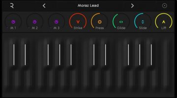 Roli Noise App GUI Tastatur 1