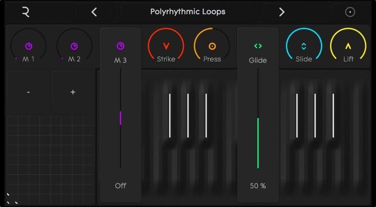Roli Noise App GUI Tastatur 3