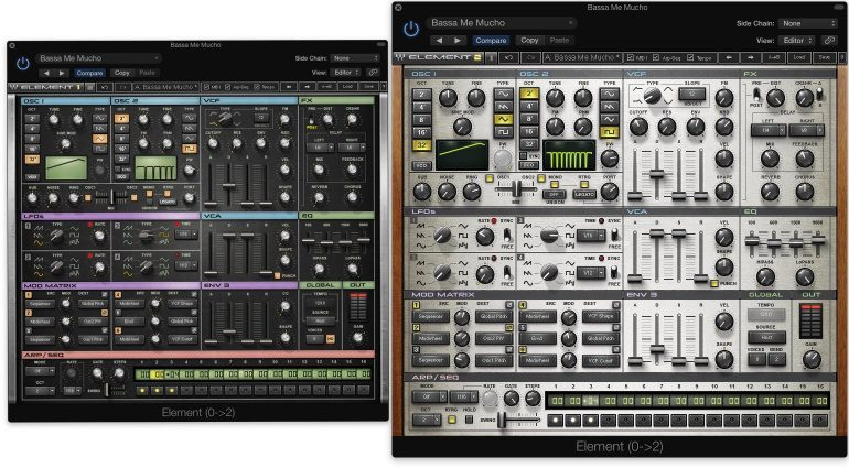 Waves Element 2 Synthesizer Update Plug-in GUI