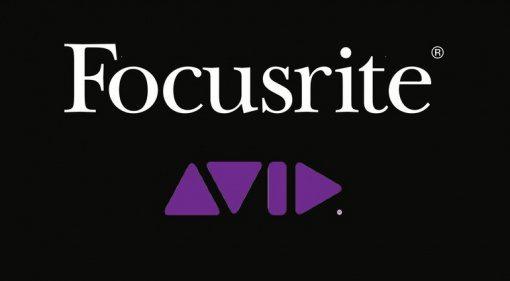 Focusrite Avid Logos Zusammenarbeit