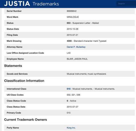Justia- Korg minilogue