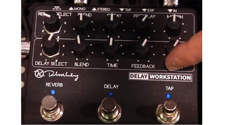 Keeley Delay Workstation Front NAMM