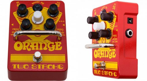 Orange Two Stroke EQ Pedal Front