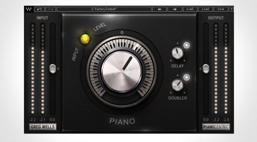 Waves Greg Wells PianoCentric Plug-in GUI smal