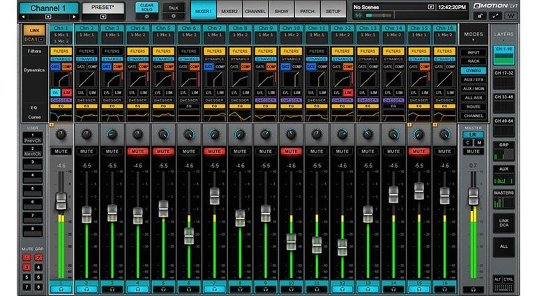 Waves eMotion LV1 Mixer GUI 1