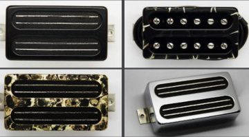 Bare Knuckel Impulse Humbucker mit Rahmen Cover Front