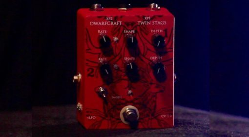 Dwarfcraft Devices Twin Stags Tremolo Effekt Pedal Gitarre Synthesizer Front