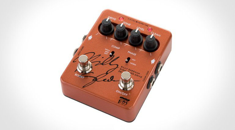 EBS BIlly Sheehan Signature Drive Deluxe Overdrive Bass Pedal Front