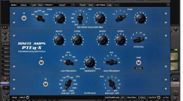 Ignite Amps PTEq-X Pultec Equalizer EQ Plug-In GUI