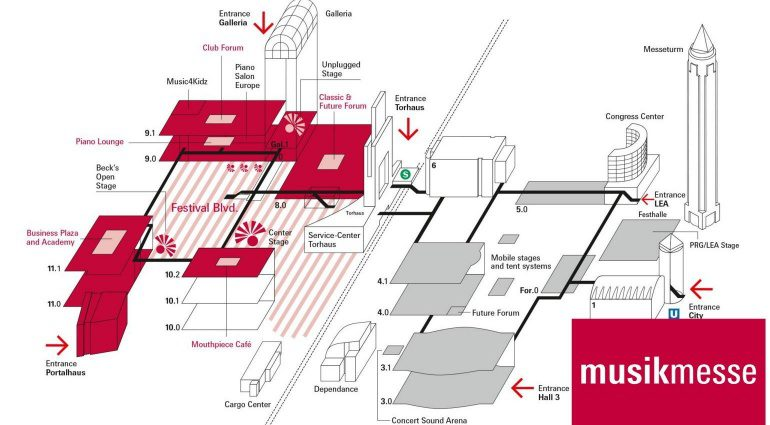Musikmesse 2016 Plan