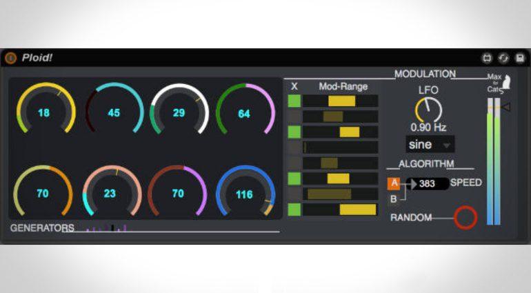 Max For Cats Ploid! - kostenloses Sound erzeugen mit Zufallsgenerator