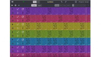 Scriptsonic GUI iPad Main