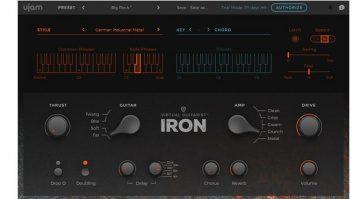 UJAM Virtual Guitarist Iron Plug-In GUI
