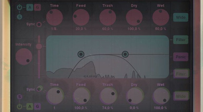 iZotope DDLY Delay Plug-IN GUI 3d close up nah
