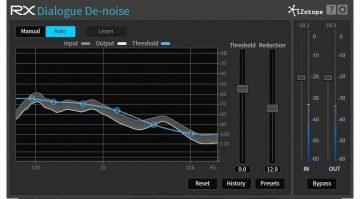 iZotope RX De-Noise Plug-In GUI