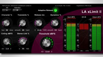 TB Pro Audio LA xLimit II - Mastering Limiter bekommt ein Update