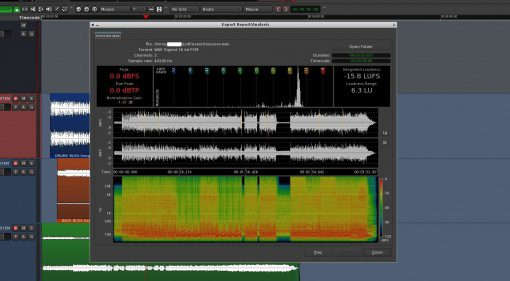 Ardour 4.7 Update Export Analyse Fenster GUI