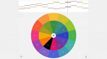 Google Chrome Music Lab Arpeggios Quintenzirkel