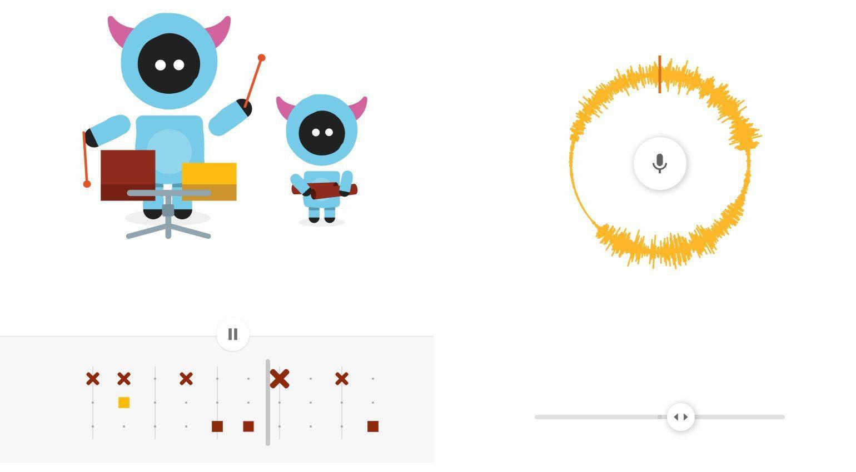 Google Chrome Music Lab Rhythmus MAschine und Abspielgeschindigkeit