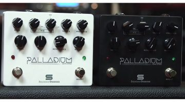 Seymour Duncan Palladium Gain Stage Distortion Pedal White Black Front