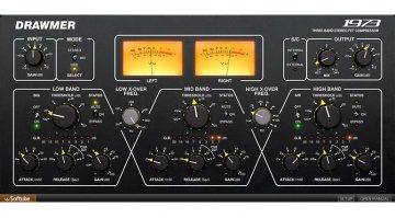 Softube Drawmer 1973 Multiband Kompressor Plug-in GUI