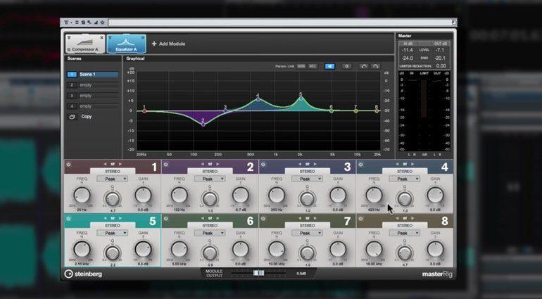 Steinberg Wavelab 9 Master Rig EQ GUI