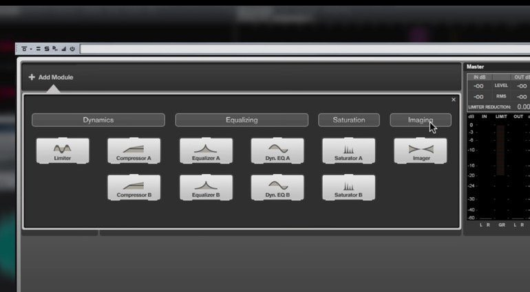 Steinberg Wavelab 9 Master Rig Modulwahl GUI