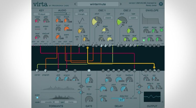 Madrona Labs Virta - ein stimmengesteuertes Synthesizer Plug-in