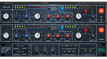 Waves BSS DPR-402 Compressor De-Esser Plug-In GUI