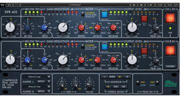 Waves BSS DPR-402 Compressor De-Esser Plug-In GUI