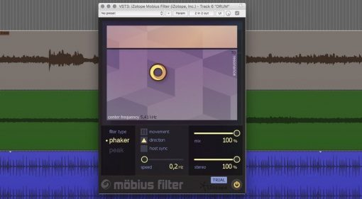iZotope Mobius Filter Plug-in GUI