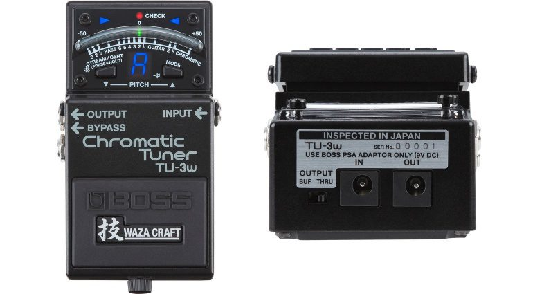 Boss TU-3W Waza Craft Tuner Pedal Front Back