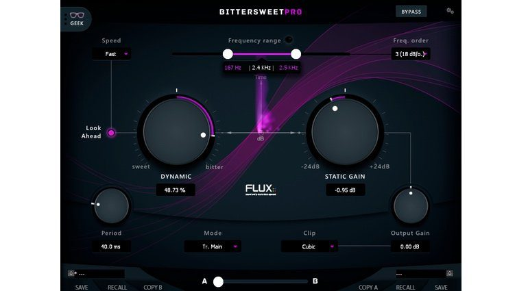 Flux BitterSweet Pro V3 Plug-in Transienten Designer GUI