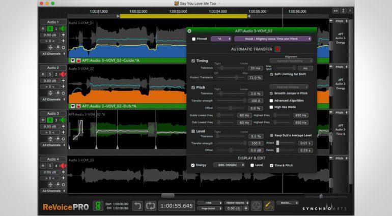 Synchro Arts Revoice Pro 3.2 Update - Vocal Edits werden nun noch einfacher