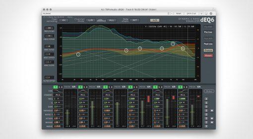 TBProAudio dEQ6 dynamic Equalizer GUI